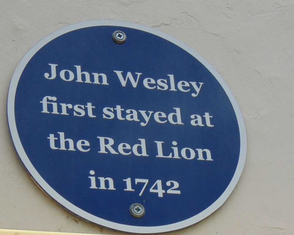 Red Lion Plaque Wesley Trail