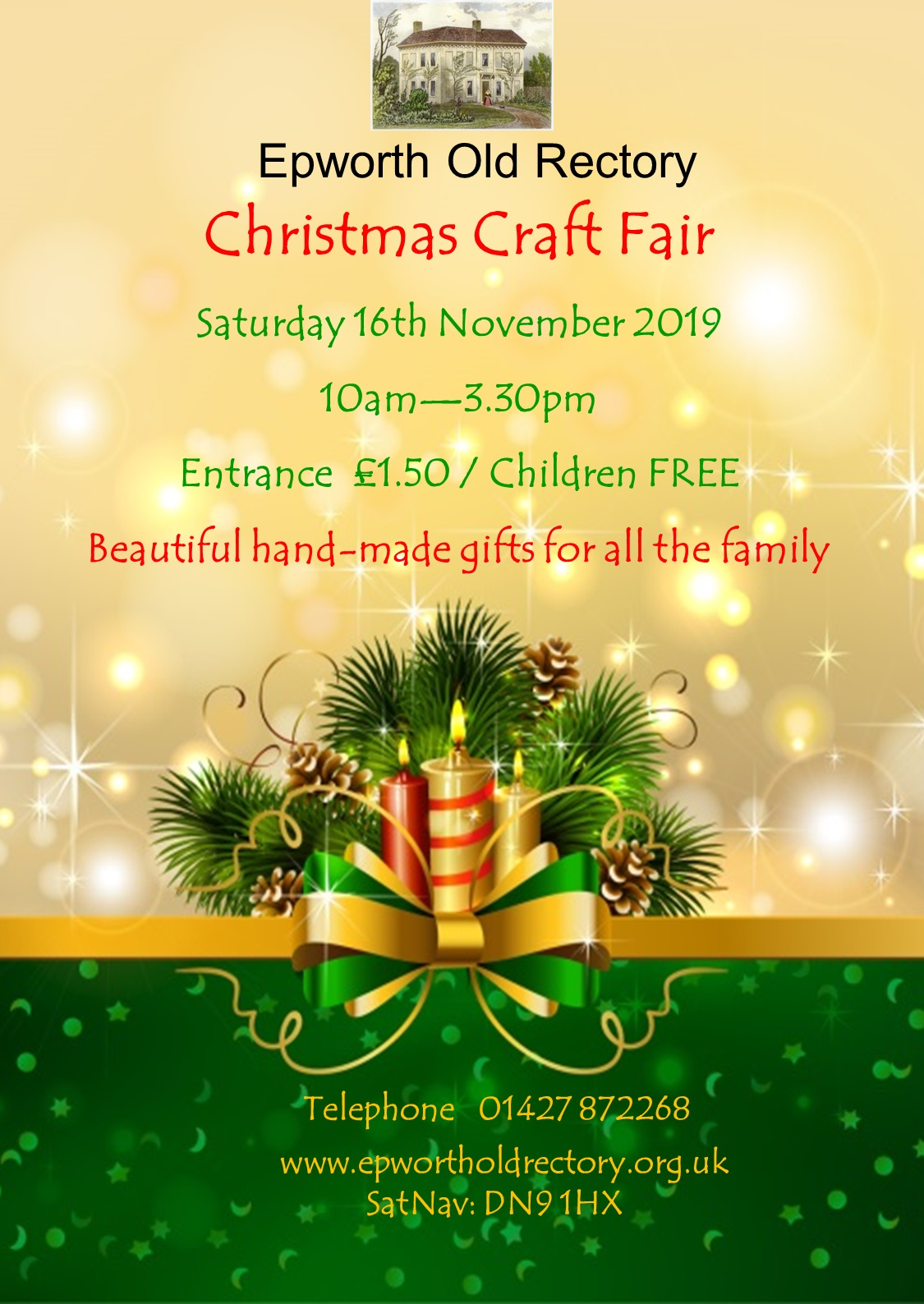 Christmas Craft Fair poster 2019